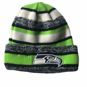 NFL Seattle sea hawks stocking cap youth Os